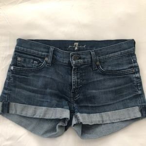 Seven for all Mankind Rolled Jean Shorts